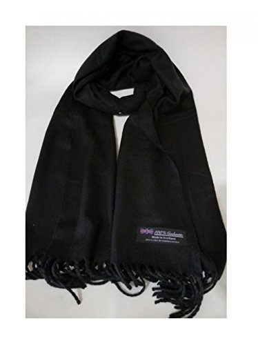 Black_(US Seller)Scarves SOLID Scotland Wool Warm THICK WINTER Scarf