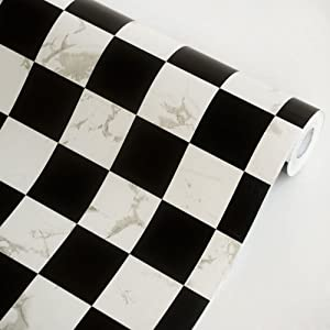 Black White Self Adhesive Wallpaper Home Decor Roll Black And White Kitchen Wallpaper