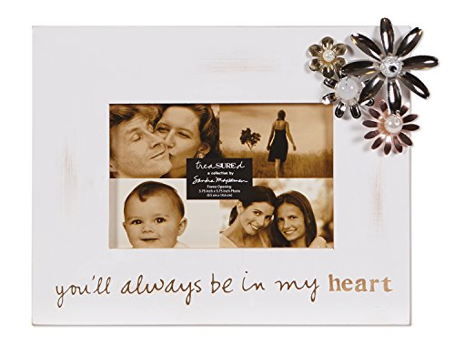 C.R. Gibson Treasured Frame by Sandra Magsamen, 4 by 6-Inch, Heart