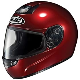 HJC CS-R1 Wine Solid Motorcycle Helmet - Size : Large