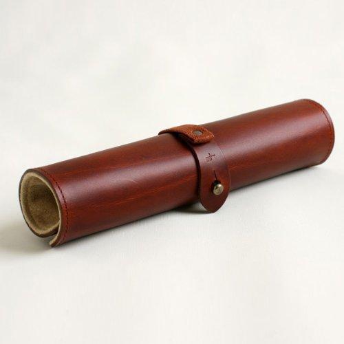 (m+)エムピウ ペンケース rotolo SUEDE ロトロ スエード 筆箱 ロールペンケース スウェード カラー brown