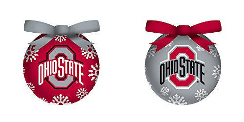 Ohio State University Light Up Ball Christmas Ornament Set Of 6