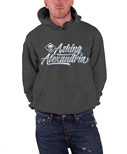 Asking Alexandria -  Felpa con cappuccio  - Maniche lunghe  - Uomo grigio X-Large