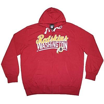 Mens NFL Washington Redskins Athletic Warm Zip-Up Hoodie (Vintage Look)