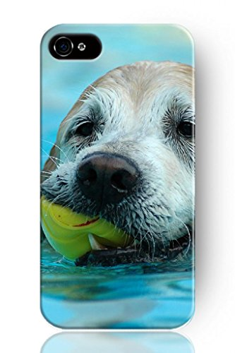 Sprawl Original New Hard Skin Case Cover Shell For Mobilephone Apple Iphone 4 4S, Interesting Fashion Design With Dog Swimming front-375436