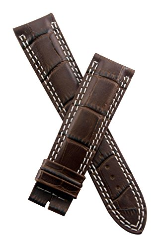 watch-strap-world-21-mm-dark-brown-crocodile-style-leather-strap-to-fit-jager-le-coultre-master-comp