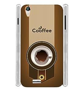 Coffee Design Soft Silicon Rubberized Back Case Cover for Xolo A1010