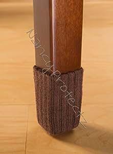 Small/Chocolate Brown-Chair Leg Floor Protector Pads - 8 Pack Furniture Socks