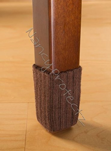 Small chocolate brown with rubberized grips chair leg floor protectors