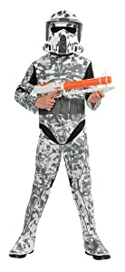 Star Wars The Clone Wars, Child's Costume And Mask, Arf Trooper Costume,  Large (Ages 8 to 10)