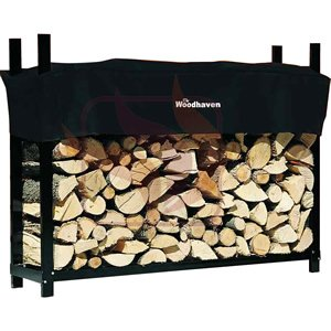 5ft Woodhaven Firewood Rack - Black