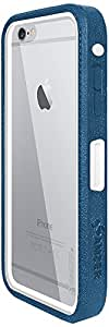 Amzer 300341 CRUSTA Rugged Case Blue on White Shell Tempered Glass with Holster for iPhone 6 Plus, iPhone 6s Plus