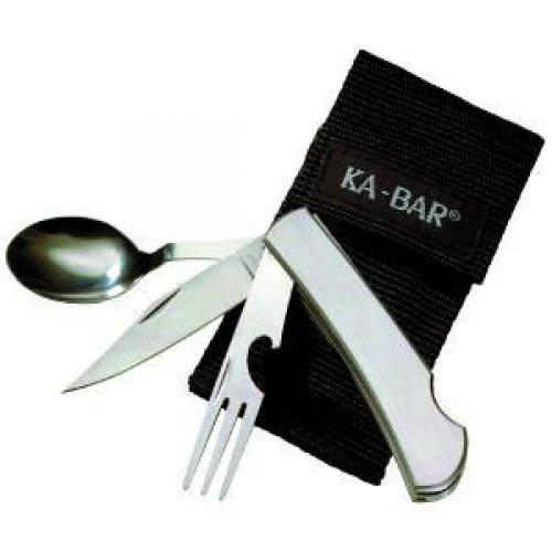 Ka-Bar Knives 1300 / 1300 Hobo 3-In-1 Utensil Kit - 3 Piece(S) - 3/Set - Stainless Steel