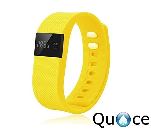 Quace TW64 OLED Display Bluetooth 4.0 Waterproof Smart Health Band With Pedometer, Sleep Monitoring, Call Reminder...