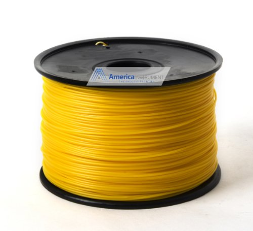 Jet - ABS (1.75mm, Gold color, 1.0kg =2.204lbs) Filament on Spool for 3D Printer MakerBot RepRap MakerGear Ultimaker & Up!
