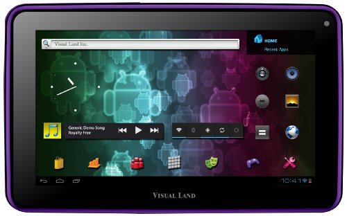 Visual Land Prestige 7 Internet Tablet 7-Inch Android 4.0 (Purple)