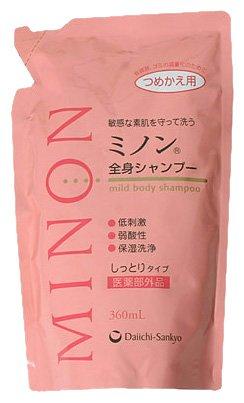 MINON(ミノン) 全身シャンプーしっとりタイプ 詰替用 360mL 【医薬部外品】