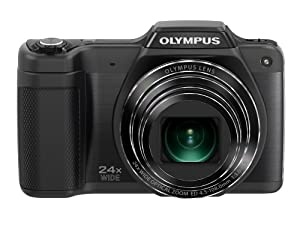 Olympus Stylus SZ-15 Digital Camera with 24x Optical Zoom and 3-Inch LCD (Black) (Old Model)