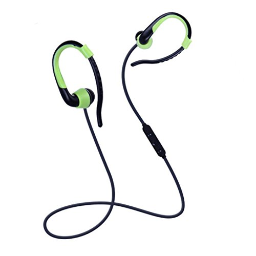 Alonea Bluetooth Wireless In-Ear Stereo Headphones Fitness Sports Headphones (Green)