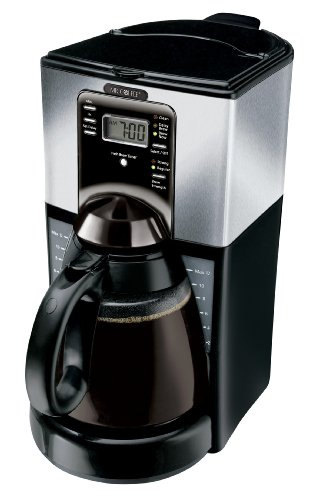 Mr. Coffee Ftx45-1 12-Cup Programmable Coffeemaker, Black/Stainless front-52445