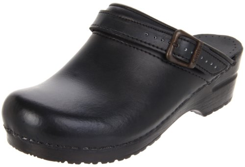 Sanita Women's Ingrid Clog,Black,38 EU/7.5-8 M US