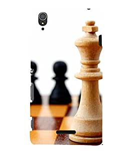 two pawns and one king of chess 3D Hard Polycarbonate Designer Back Case Cover for Sony Xperia T3