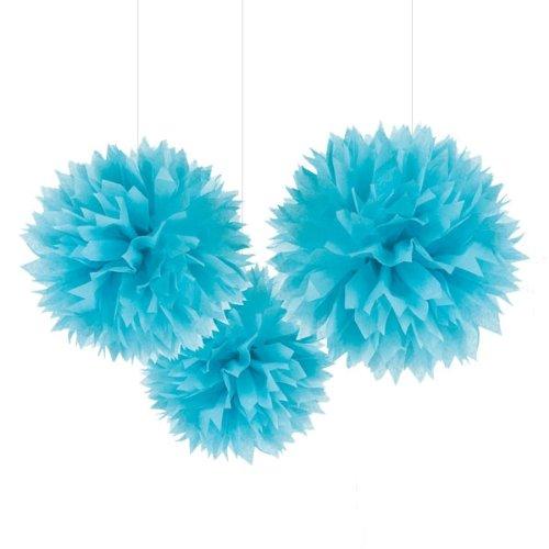 Ocean Blue Fluffy Decorations (3)
