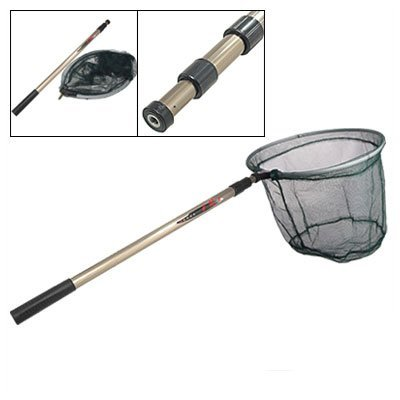 Telescopic handle fishing fish landing folding netting net for Collapsible fishing net