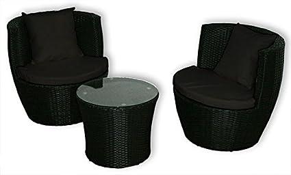 KMH®, 3-teilige Gartensitzgruppe (inklusive Sesselauflage und Kissen) (#106075)