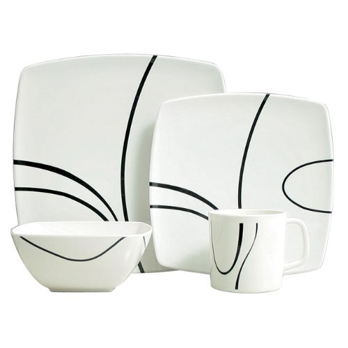 Details for Zen 16 Piece Melamine Tableware Set from Grove