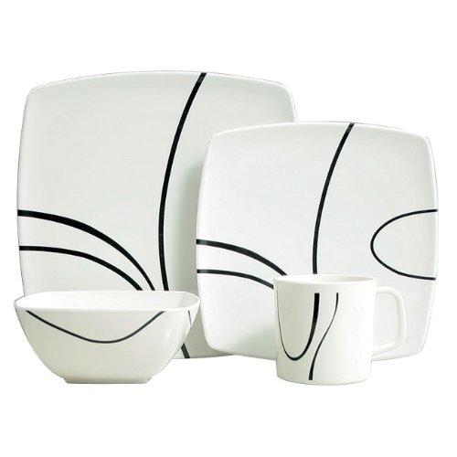 Details for Zen 16 Piece Melamine Tableware Set from Grove