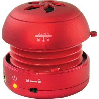 Pyle Home Pms2R Bass Expanding Rechargeable Mini Speakers For Ipod/Iphone/Mp3 (Red)