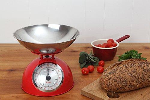Balance de cuisine vintage 5 kg - rouge