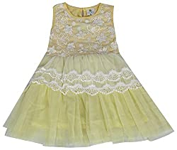Party Princess Girls' Party Dress (8327Y-1/2, Yellow, 12-18 Months)