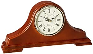 Seiko Medium Brown Oak Tambour Mantel Clock