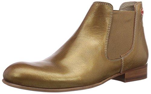 NOBRAND Iris, Stivaletti a gamba corta mod. Chelsea, imbottitura leggera donna, Oro (Gold (golden sand)), 39