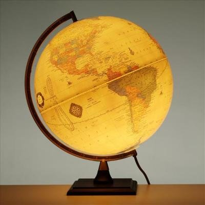 The Bradley Illuminated Antique 30cm Globe