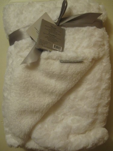 Blankets and Beyond White Swirl Very Soft Baby Blanket - 1