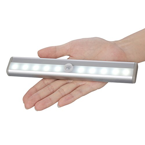 Zeroedge Stick-on Anywhere Portable 10-LED Wireless Motion Sensing Closet Cabinet LED Night Light / Stairs Light / Step Light Bar (Battery Operated)