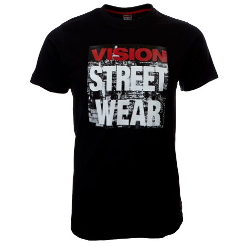 Vision Street Wear Vision Street Wear Highrise T-Shirt Tee Skateboarding Skate Men Kult schwarz in Gr. M - T-Shirts