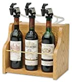 Wine Dispenser and Preserver 3 bottle (Oak) (11