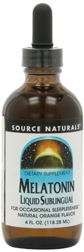 Source Naturals Melatonin Liquid, Natural Orange Flavor, 4 Ounce (Pack of 2)