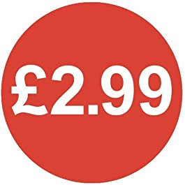Audioprint Lot Petit 13mm £ 2.99Prix Autocollants-1000Pack