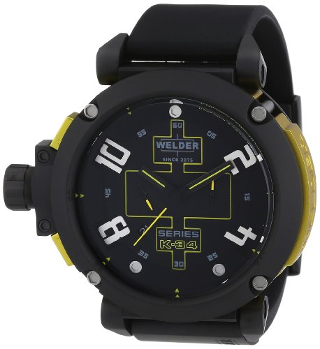 Welder Unisex Quartz Watch with Multicolour Dial Chronograph Display and Rubber Black - K34 2001