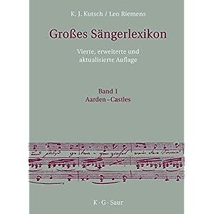 Großes Sängerlexikon (Grosses Sängerlexikon)
