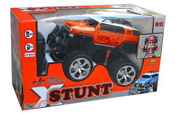XStunt King Radio Controlled 1/14 Scale R/C Stunt Jeep inc Controller - Red