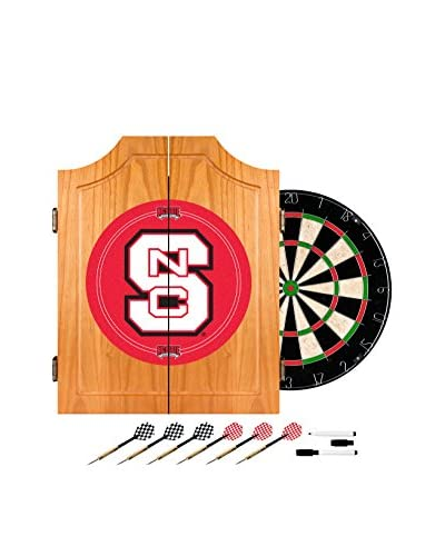 Trademark Global North Carolina State Dart Cabinet with Darts & Board