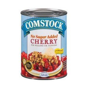 Comstock Cherry Pie Filling No Sugar Added 20oz - 6 Unit Pack