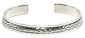 Thaipradub Jewels Women's Sterling Silver Cuff Bracelet ,Thai Design 2.8