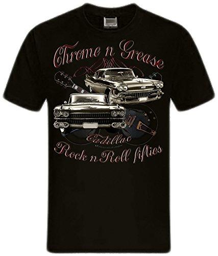 shirtmatic-motor-und-rock-guitars-hot-rod-rock-n-roll-rockabilly-t-shirt-xxl-chrome-grease-50s-cadil